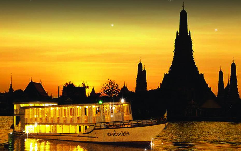 昭披耶號夜遊湄南河,夜遊湄南河,湄南河自晚餐,曼谷自助晚餐