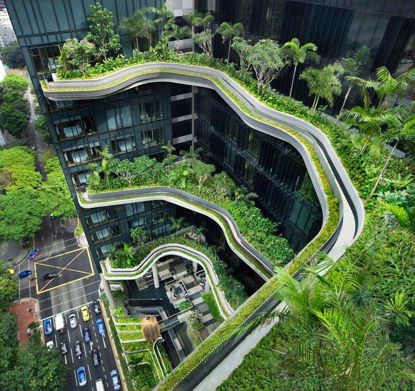 新加坡皇家酒店層層疊疊的空中花園