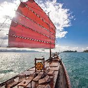 蘇梅島紅男爵號復古紅帆船環島一日遊
