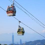 台北貓空纜車來回車票+雙層觀光巴士夜間票